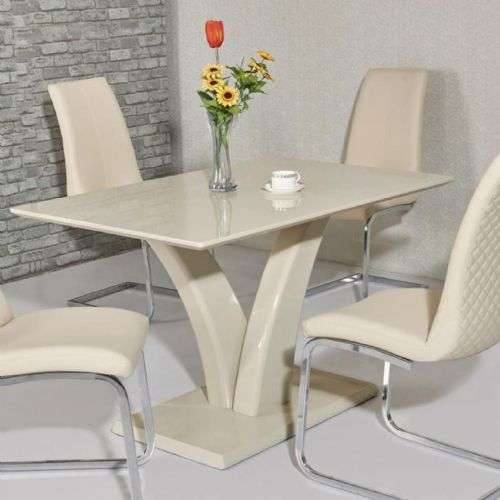 JP DT9252 Dining table120cm (Small) & JP CH 998 Cream Chairs From Jesse plana